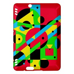 Colorful geometrical abstraction Kindle Fire HDX Hardshell Case