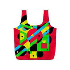 Colorful geometrical abstraction Full Print Recycle Bags (S)