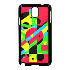 Colorful geometrical abstraction Samsung Galaxy Note 3 Neo Hardshell Case (Black)