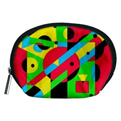 Colorful geometrical abstraction Accessory Pouches (Medium)
