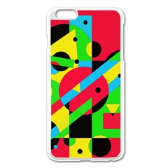 Colorful geometrical abstraction Apple iPhone 6 Plus/6S Plus Enamel White Case
