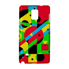 Colorful geometrical abstraction Samsung Galaxy Note 4 Hardshell Case