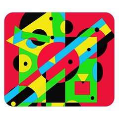Colorful geometrical abstraction Double Sided Flano Blanket (Small)
