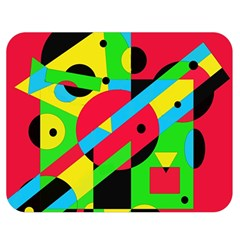 Colorful geometrical abstraction Double Sided Flano Blanket (Medium)