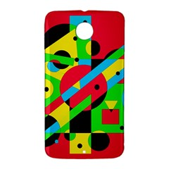 Colorful geometrical abstraction Nexus 6 Case (White)