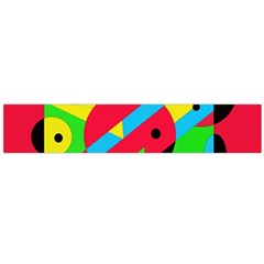 Colorful geometrical abstraction Flano Scarf (Large)