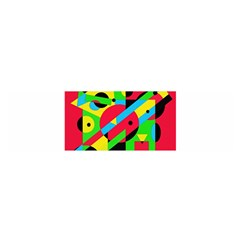 Colorful geometrical abstraction Satin Scarf (Oblong)