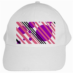 Purple lines and circles White Cap