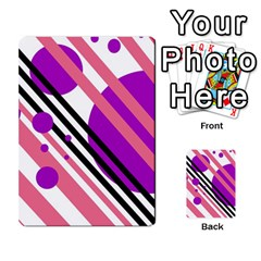 Purple lines and circles Multi-purpose Cards (Rectangle)