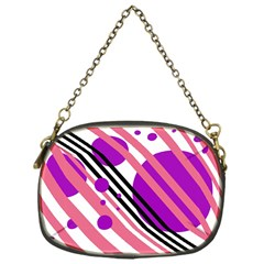 Purple lines and circles Chain Purses (One Side)