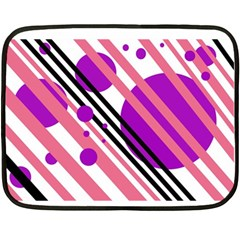 Purple lines and circles Double Sided Fleece Blanket (Mini)
