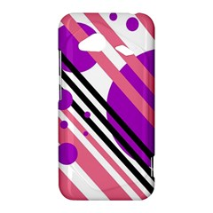 Purple lines and circles HTC Droid Incredible 4G LTE Hardshell Case