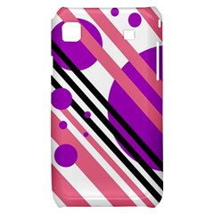 Purple lines and circles Samsung Galaxy S i9000 Hardshell Case