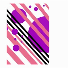 Purple lines and circles Small Garden Flag (Two Sides)