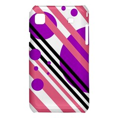 Purple lines and circles Samsung Galaxy S i9008 Hardshell Case