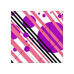 Purple lines and circles Acrylic Tangram Puzzle (4  x 4 )