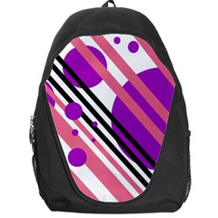 Purple lines and circles Backpack Bag
