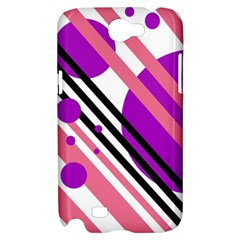 Purple lines and circles Samsung Galaxy Note 2 Hardshell Case