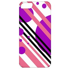 Purple lines and circles Apple iPhone 5 Classic Hardshell Case