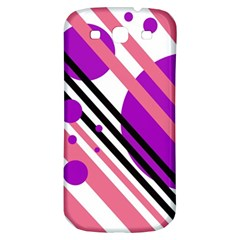 Purple lines and circles Samsung Galaxy S3 S III Classic Hardshell Back Case