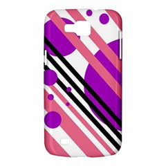 Purple lines and circles Samsung Galaxy Premier I9260 Hardshell Case