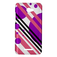 Purple lines and circles HTC Butterfly X920E Hardshell Case