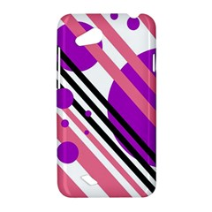 Purple lines and circles HTC Desire VC (T328D) Hardshell Case