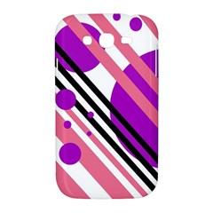 Purple lines and circles Samsung Galaxy Grand DUOS I9082 Hardshell Case