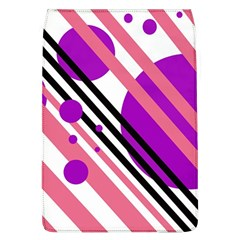 Purple lines and circles Flap Covers (L)
