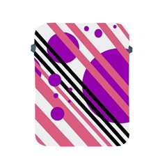 Purple lines and circles Apple iPad 2/3/4 Protective Soft Cases