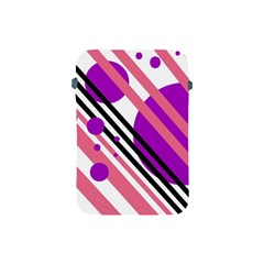 Purple lines and circles Apple iPad Mini Protective Soft Cases