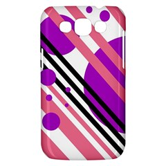 Purple lines and circles Samsung Galaxy Win I8550 Hardshell Case