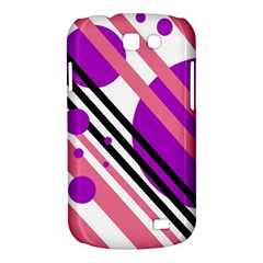 Purple lines and circles Samsung Galaxy Express I8730 Hardshell Case