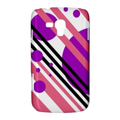 Purple lines and circles Samsung Galaxy Duos I8262 Hardshell Case