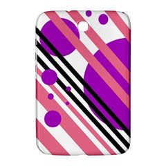 Purple lines and circles Samsung Galaxy Note 8.0 N5100 Hardshell Case