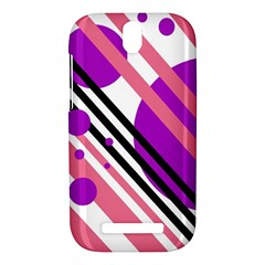 Purple lines and circles HTC One SV Hardshell Case