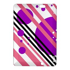 Purple lines and circles Kindle Fire HDX 8.9  Hardshell Case