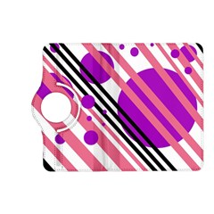 Purple lines and circles Kindle Fire HD (2013) Flip 360 Case