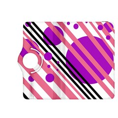 Purple lines and circles Kindle Fire HDX 8.9  Flip 360 Case