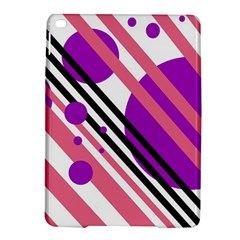 Purple lines and circles iPad Air 2 Hardshell Cases