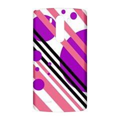 Purple lines and circles LG G3 Back Case