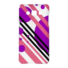 Purple lines and circles Samsung Galaxy A5 Hardshell Case