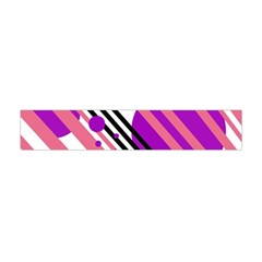 Purple lines and circles Flano Scarf (Mini)