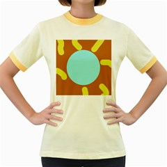 Abstract sun Women s Fitted Ringer T-Shirts