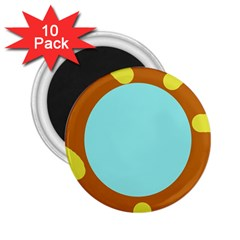 Abstract sun 2.25  Magnets (10 pack)