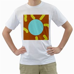 Abstract sun Men s T-Shirt (White) (Two Sided)