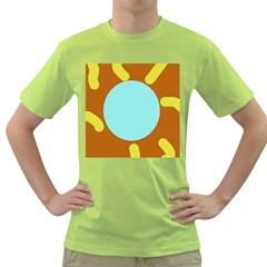Abstract sun Green T-Shirt