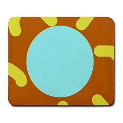 Abstract sun Large Mousepads