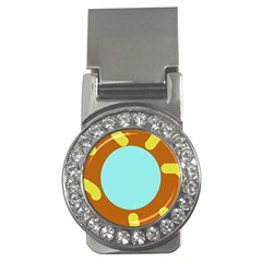 Abstract sun Money Clips (CZ)