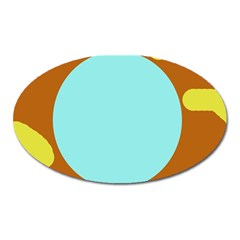 Abstract sun Oval Magnet